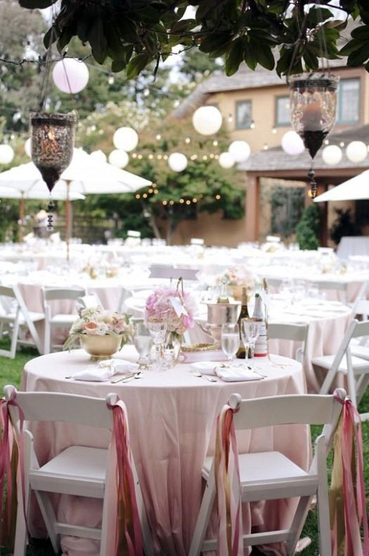 ambientacion de las mesas de casamiento