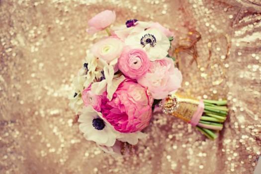 ramo de novia boda rosa