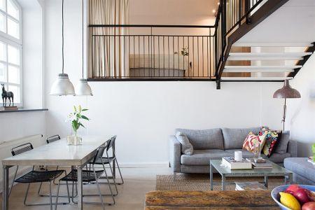 Loft de 67 m de estilo n rdico industrial paperblog for Dormitorio estilo nordico industrial