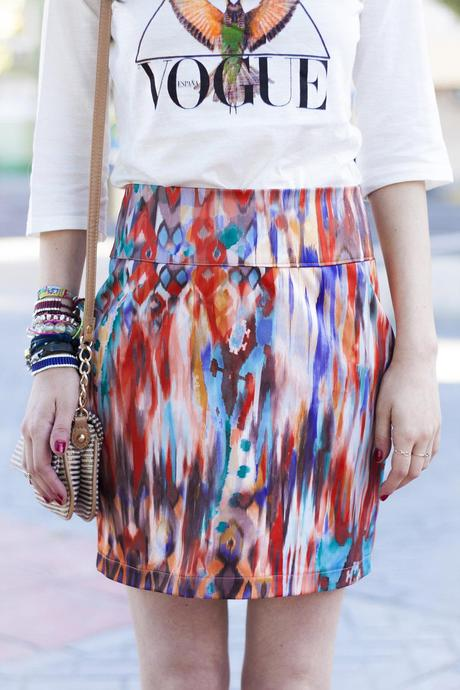 falda skirt tie dye