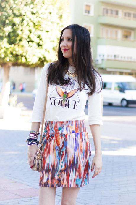 Vogue and Tie Dye Skirt