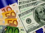 Cambiando euros dólares