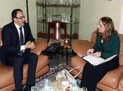Entrevista entre Ghellab Secretaria General Adjunta Naciones Unidas Administradora Asociada PNUD