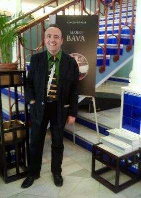 Carlos Aguilar durante el acto de presentación en el Cine Doré