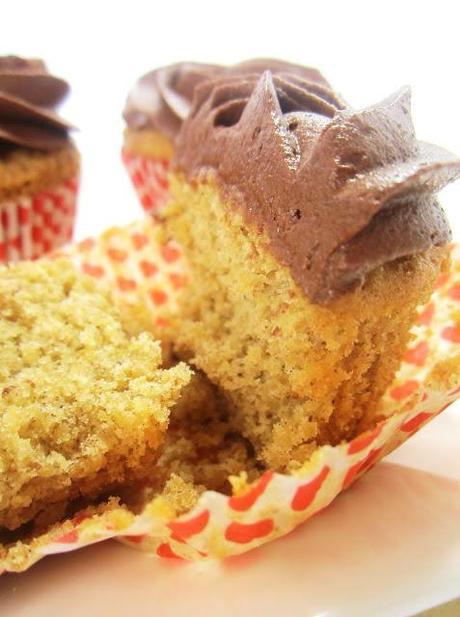 Cupcakes de Quinua con Buttercream  (Espectacular) de Chocolate
