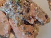 Filetes pavo salsa champiñones