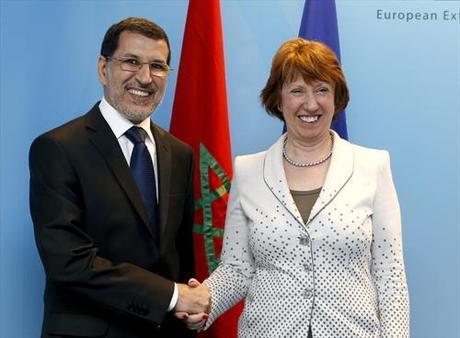 el ministerio de Asuntos Exteriores y Cooperación marroquí, Saadeddine El Othmani con la comisaria de Interior de la UE, Cecilia MalmstrÖm