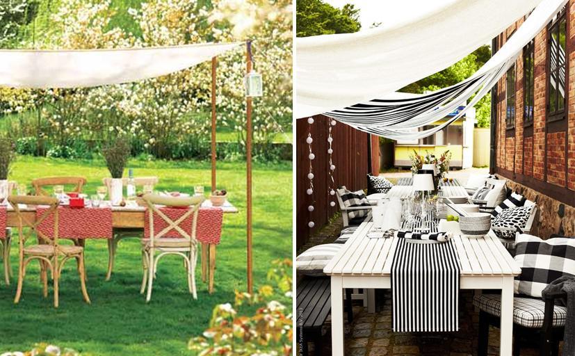 Ideas para decorar la mesa al aire libre paperblog for Jardin jardin al aire libre