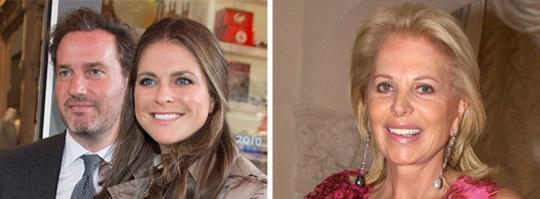 Chris O'Neill, prinsessan Madeleine och Eva Maria O'Neill. Foto: Scanpix