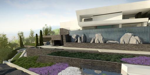 A-cero presenta una propuesta de paisajismo para la vivienda diseñada en Líbano