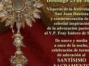 Vigilia Adoración Santísimo Sacramento ante camarín Divina Pastora
