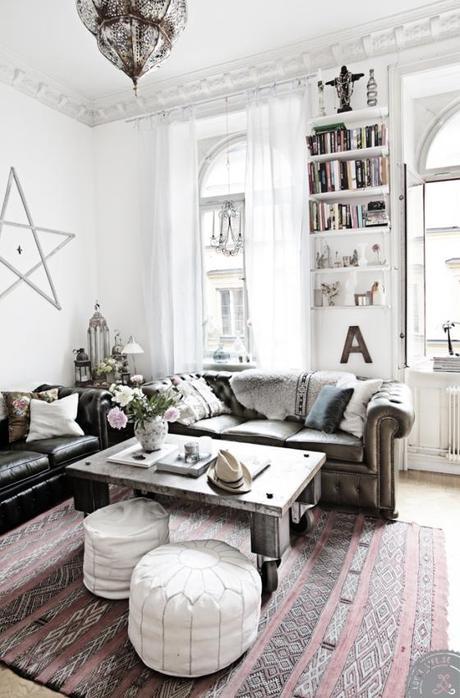 Un piso muy Boho y delicado, Amelia y Andreas House.