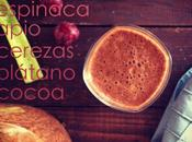 Receta: Smoothie verde chocolatoso
