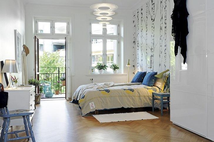 Light Blue. Decoracion nordica en un piso muy grafico