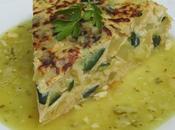 Tortilla patata calabacín salsa