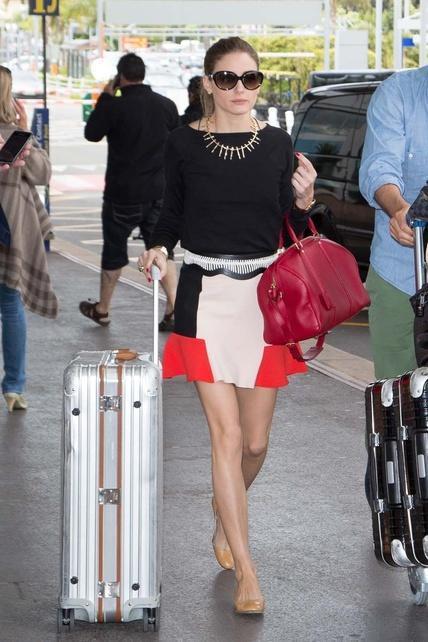 El look de Olivia Palermo: En el aeropuerto
