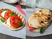 Pizza tomate albahaca