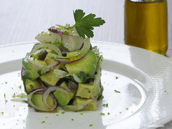 whitefish and avocado salad