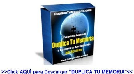 Descarga aquí el Video Curso -Duplica Tu Memoria-