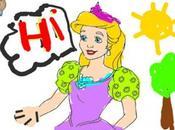Libro para colorear príncipes princesas iPad