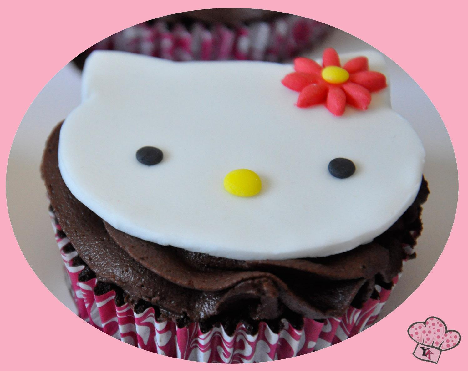 Cupcakes Hello Kitty Sin Gluten
