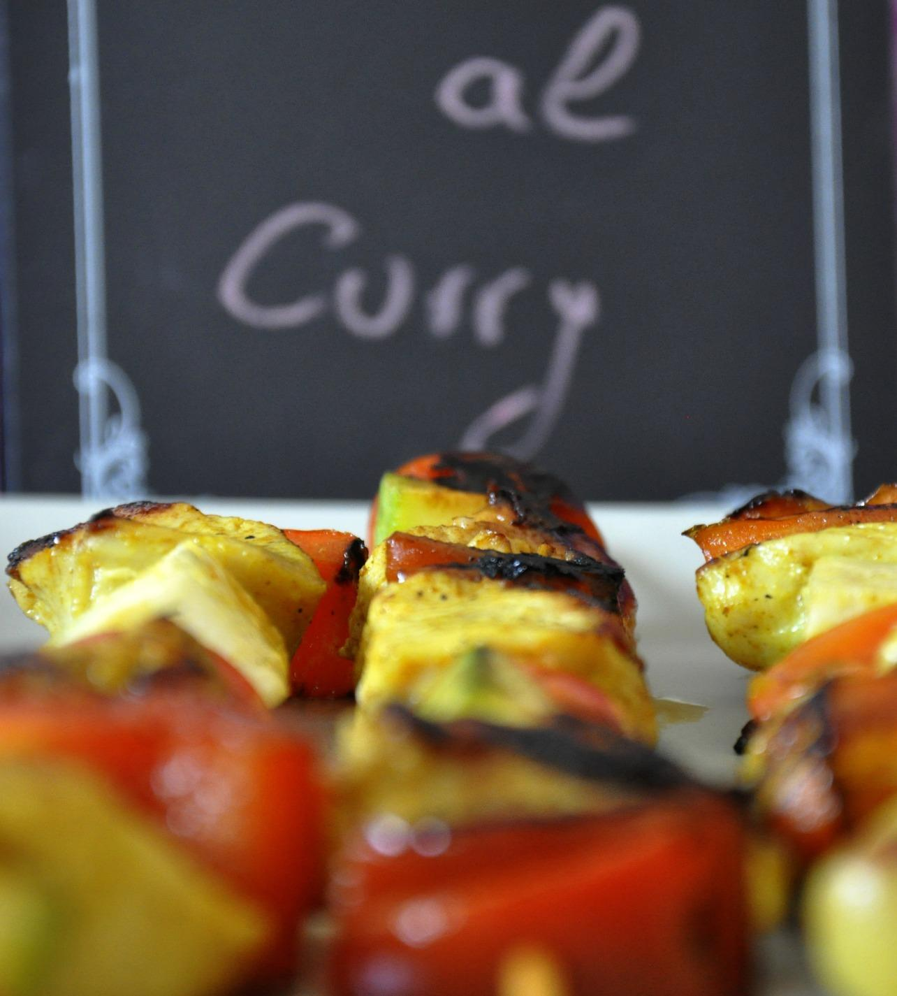 Brochetas al Curry