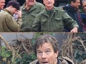 Imágenes desde set: Bryan Cranston 'Godzila' Clooney compañía 'Monuments Men'