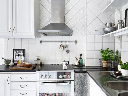 36 m de segunda mano paperblog for Cocinas modernas pequenas blancas