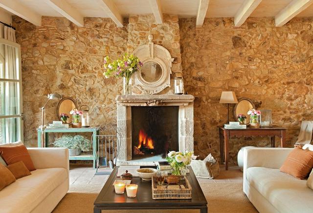 Revestimientos si las paredes hablaran paperblog - Salones con piedra ...