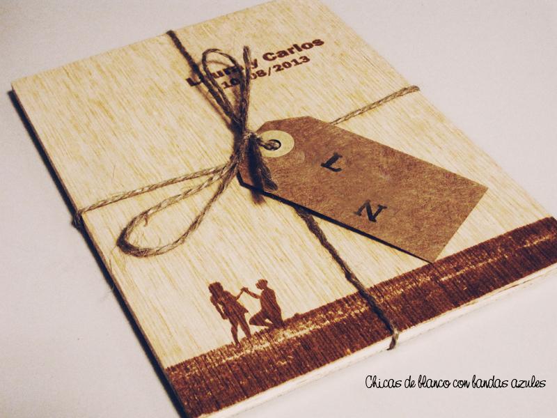 Invitaciones Para Matrimonio Rustico : Invitaciones en madera paper