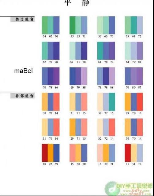 Armonia de los colores combinacion paperblog for Combinaciones con azul