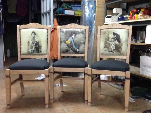 Las sillas restauradas de Mª Ángeles