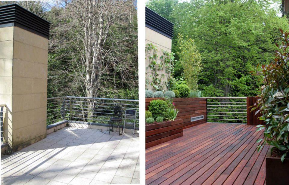 Dise o de jard n en un tico para 2 terrazas paperblog - Diseno de un jardin ...