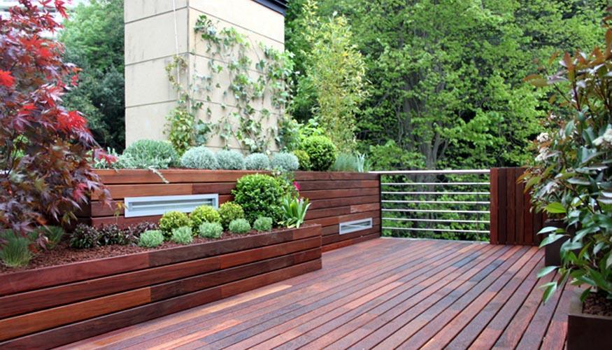 Dise o de jard n en un tico para 2 terrazas paperblog - Jardines en aticos ...