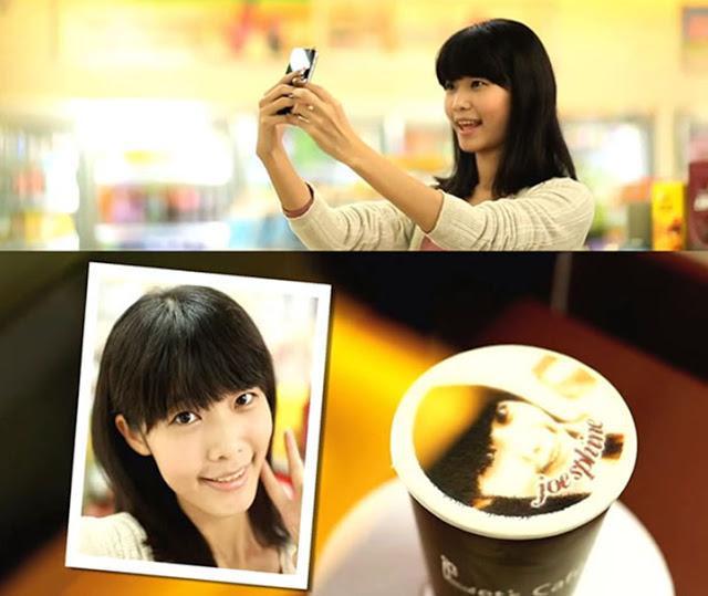 Marketing experiencial: una máquina que imprime tu cara en el café!