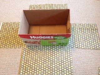 C mo forrar unas cajas para almacenaje paperblog - Como forrar muebles con tela paso a paso ...