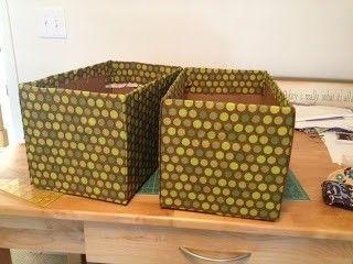 C mo forrar unas cajas para almacenaje paperblog - Cajas tela almacenaje ...