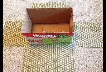C mo forrar unas cajas para almacenaje paperblog - Cajas almacenaje decorativas ...