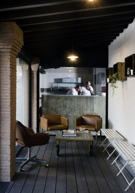 KOOK: Una pizzería de estlio industrial en Roma - Paperblog