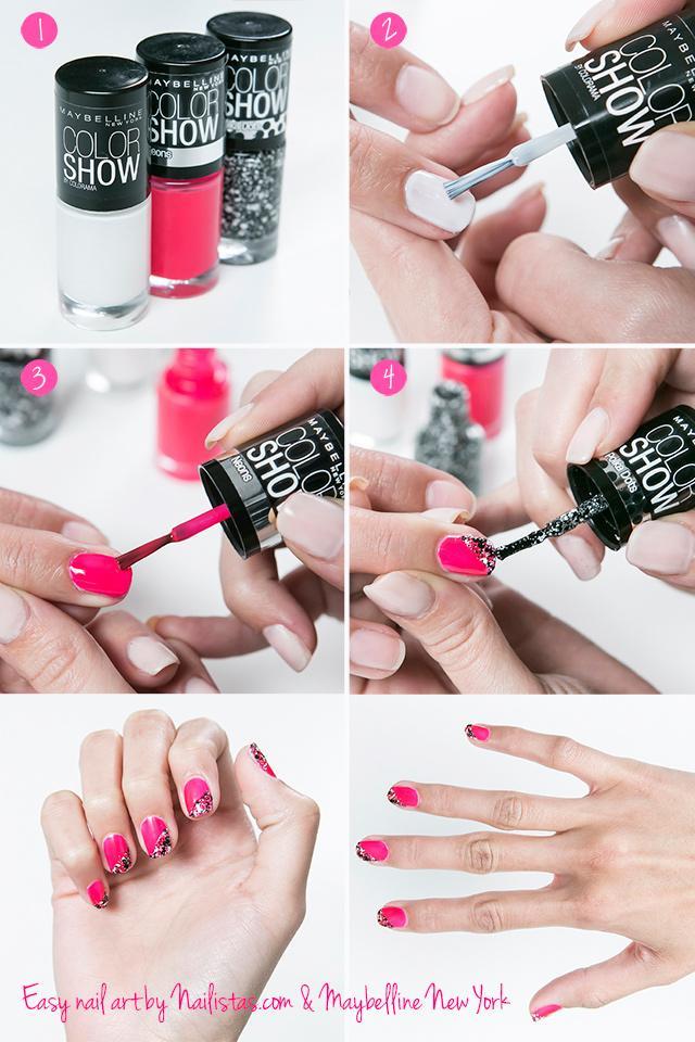 Diseño para uñas sencillo // Nail Art fácil paso a paso - Paperblog