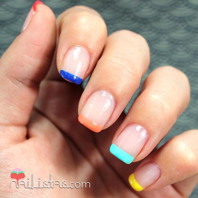 Manicura francesa de colores manicura de verano paperblog - Manicura francesa colores ...