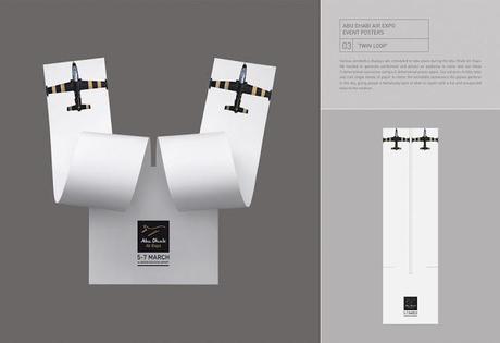 Abu Dhabi Air Expo: Pósters en 3D que representan acrobacias aéreas