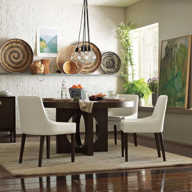 Decorar las paredes con cestos de mimbre paperblog - Decorar paredes comedor ...