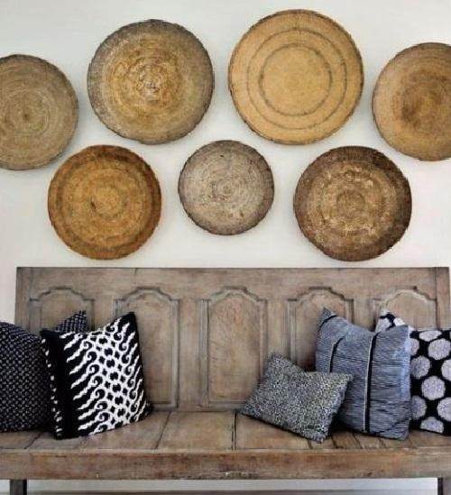 Decorar las paredes con cestos de mimbre paperblog - Cestos decorativos ...
