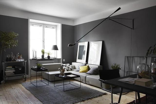 Un sal n gris paperblog Salones en tonos grises