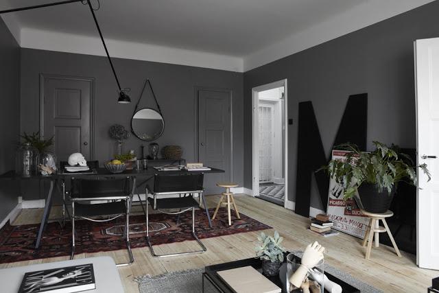 Un sal n gris paperblog - Salones pintados en gris ...