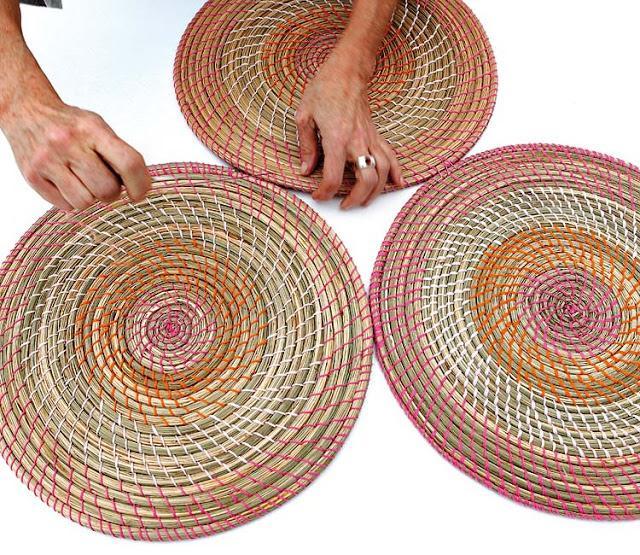 una alfombra artesanal con salvamanteles de ratan paperblog On alfombra ratan