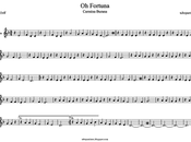 Partitura Fortuna Carl Orff para Violín canción barroca Música Clásica