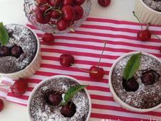 Mini pastelitos chocolate cerezas