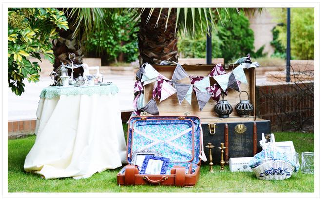 La maleta vintage alquiler de objetos vintage para for Alquiler decoracion bodas